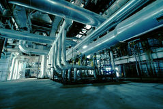 Free Industrial Zone, Steel Pipelines And Valves Stock Image - 55019611
