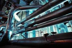 Industrial zone, Steel pipelines Stock Photography
