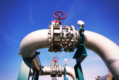 Free Industrial Zone, Steel Pipelines, Valves And Cables Stock Images - 50410304
