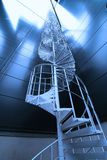 Industrial zone, Steel stairs in blue tones Stock Photo