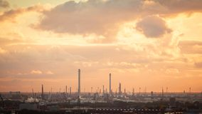 Industrial zone at sunset Royalty Free Stock Photos