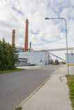 Industrial zone in Tartu, Estonia. With chimneys Royalty Free Stock Photography