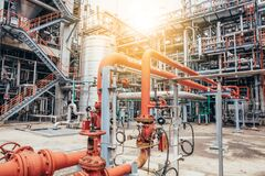 Free Industrial Zone,The Equipment Of Oil Refining,Close-up Of Industrial Pipelines Of An Oil-refinery Plant,Detail Of Oil Pipeline Wit Royalty Free Stock Photo - 172921545