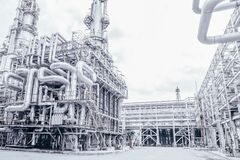 Free Industrial Zone,The Equipment Of Oil Refining,Close-up Of Industrial Pipelines Of An Oil-refinery Plant,Detail Of Oil Pipeline Wit Royalty Free Stock Images - 172921639
