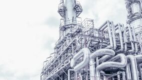Free Industrial Zone,The Equipment Of Oil Refining,Close-up Of Industrial Pipelines Of An Oil-refinery Plant,Detail Of Oil Pipeline Wit Royalty Free Stock Photography - 172923057
