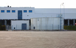 Industrial Zone, warehouses Royalty Free Stock Photography