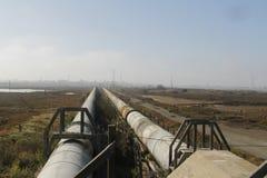 Industrial zone - water pipeline Stock Photos