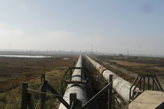 Industrial zone - water pipeline Royalty Free Stock Image