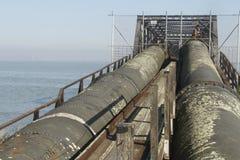 Industrial zone - water pipeline Stock Image