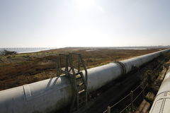 Industrial zone - water pipeline Royalty Free Stock Images