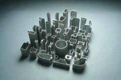 Industriale astratto delle estrusioni di alluminio Fotografia Stock Libera da Diritti