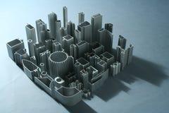 Industriale astratto delle estrusioni di alluminio Immagini Stock Libere da Diritti