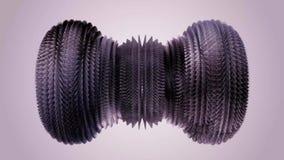 Industriale girante muoventesi di qualità del ciclo del metallo del metallo sfocato lanuginoso nuovo di animazione 3d di moto del royalty illustrazione gratis
