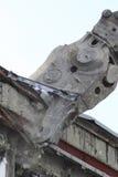 Industriale smantelli, la distruzione meccanica Fotografia Stock Libera da Diritti