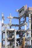 Industriale smantelli, la distruzione meccanica Immagine Stock Libera da Diritti