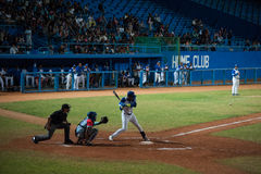 Industriales. Baseball Team Industriales is a baseball team in the Cuban National Series. One of the two teams based in the city of Havana, Industriales is stock photo