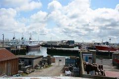Industrialiserade fiskebåtar Arkivfoto