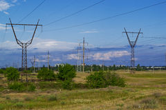 Industrialization of the steppes of Ukraine. Royalty Free Stock Photos