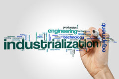 Industrialization word cloud Royalty Free Stock Image