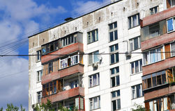 Industrialized apartment block in russia Stock Photography