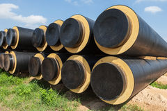 Industrially isolated pipes Stock Image