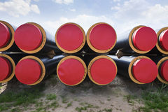 Industrially isolated pipes Royalty Free Stock Images