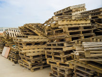 Industrials pallets Royalty Free Stock Photo