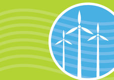 Industrialy template, Wind power concept Royalty Free Stock Images