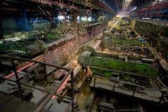 Industrias siderúrgicas Imágenes de archivo libres de regalías