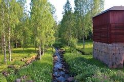 Industrias siderúrgicas de Rosfors en Norrbotten Imagen de archivo libre de regalías