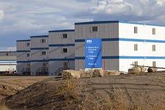 Industribyggnader Alberta, Kanada arkivfoto
