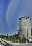 Industribyggnader i Cividale Arkivbilder