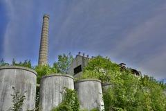 Industribyggnader i Cividale Arkivfoton