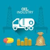 Industric infographic för oljor och för olja Fotografering för Bildbyråer