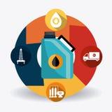 Industric infographic för oljor och för olja Royaltyfria Foton