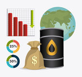 Industric infographic för oljor och för olja Arkivfoton