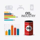 Industric infographic för oljor och för olja Royaltyfria Bilder