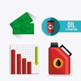 Industric infographic för oljor och för olja Arkivfoto