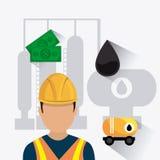 Industric infographic för oljor och för olja Royaltyfri Foto