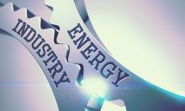 Industrie énergétique - mécanisme des vitesses en métal 3d illustration libre de droits