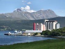 Industrie in bergen, Noorwegen Royalty-vrije Stock Foto's