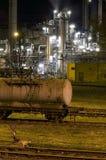 Industrie bij Nacht royalty-vrije stock fotografie
