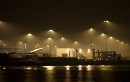 Industrie bij nacht Royalty-vrije Stock Foto's