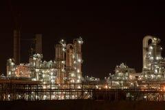 Industrie bij nacht Stock Foto's