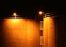Industrie bij Nacht Royalty-vrije Stock Foto