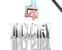 Industrie 4 0 concept, 3D illustratie Stock Afbeeldingen