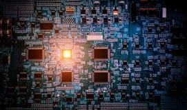 Industrie 4 0 conceptenbeeld industriële instrumenten in de fabriek Stock Foto's