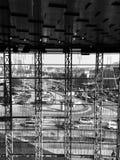 industrie dans le blanc noir de Vilnius Photographie stock libre de droits