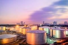 Industrie de carburant et de production d'électricité Image libre de droits