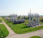 Industrie de gaz et pétrolière Photo libre de droits